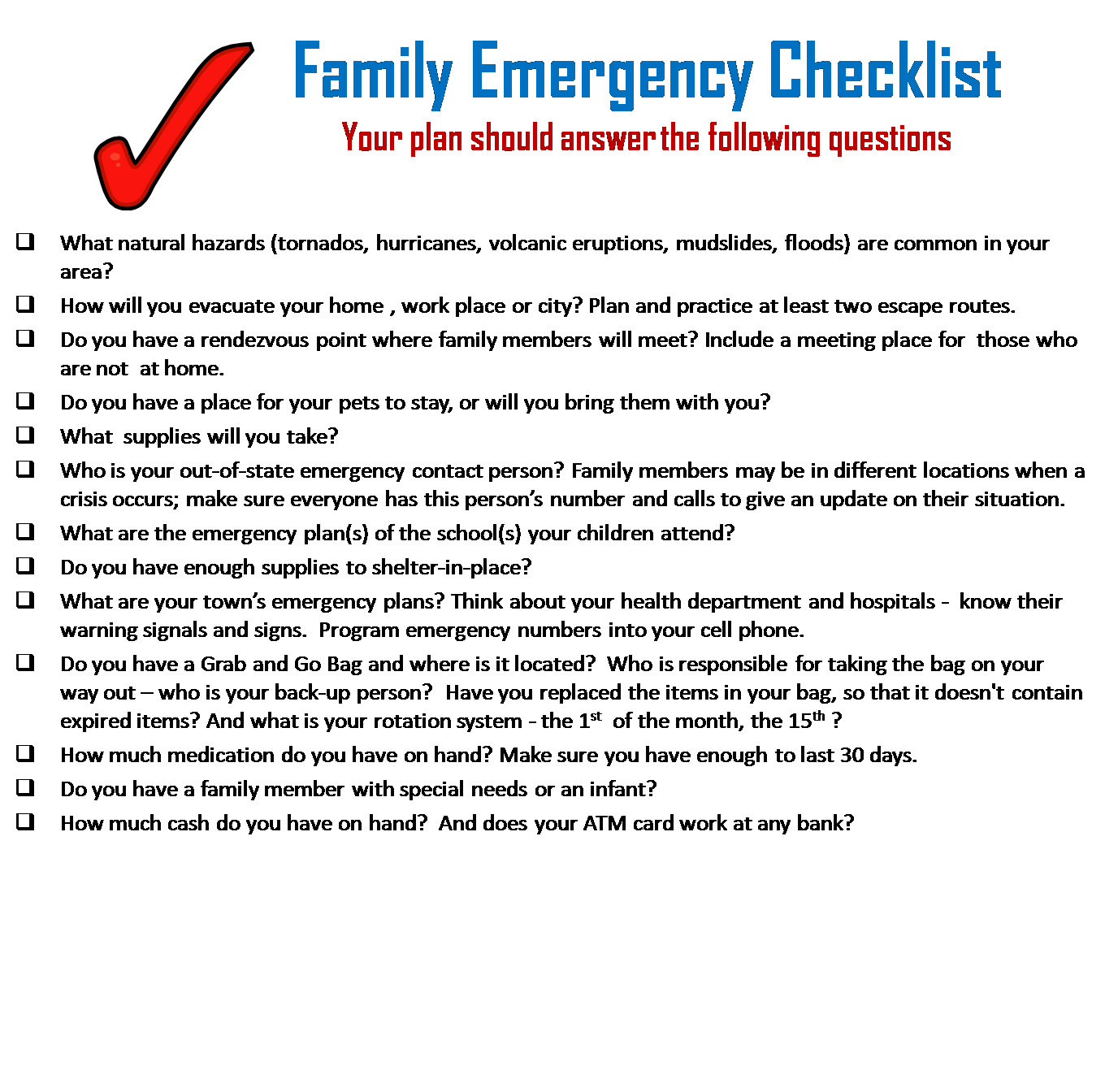 family emergency plan template